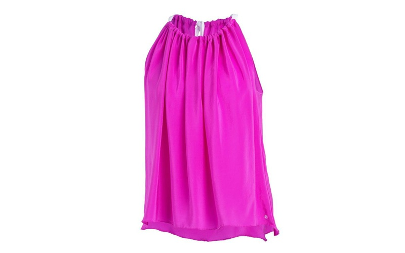 Silk sleeveless top - Deep Pink