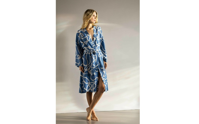 Osprey silk robe