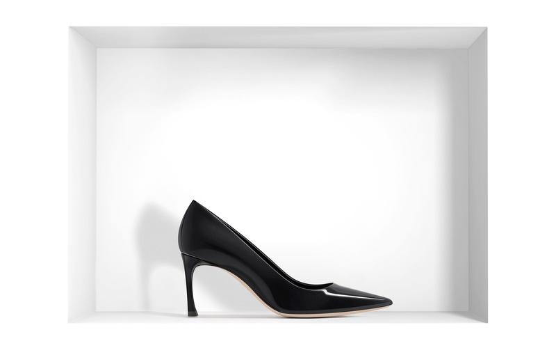 Pump 'Dior' Black Patent Calfskin Pump 7 cm