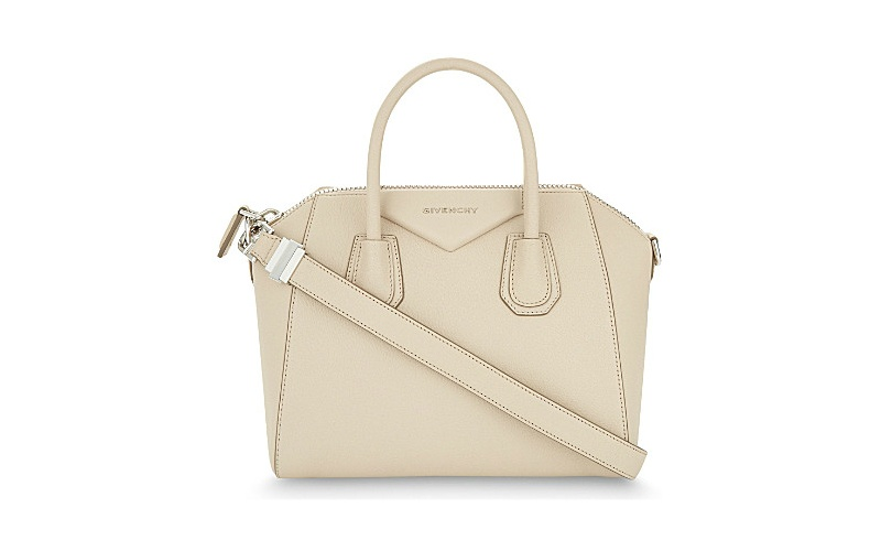 Antigona sugar leather tote nude