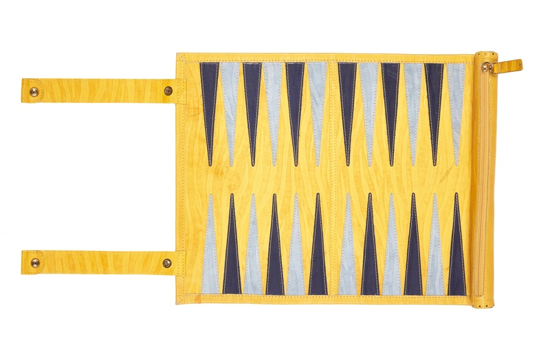 YELLOW BACKGAMMON BOARD