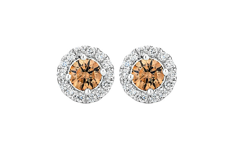 AURA COLOURED DIAMOND STUDS