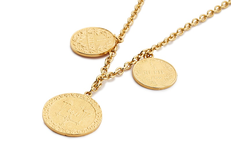 KATAVI NECKLACE WITH ANTIQUE EAST AFRICAN COINS