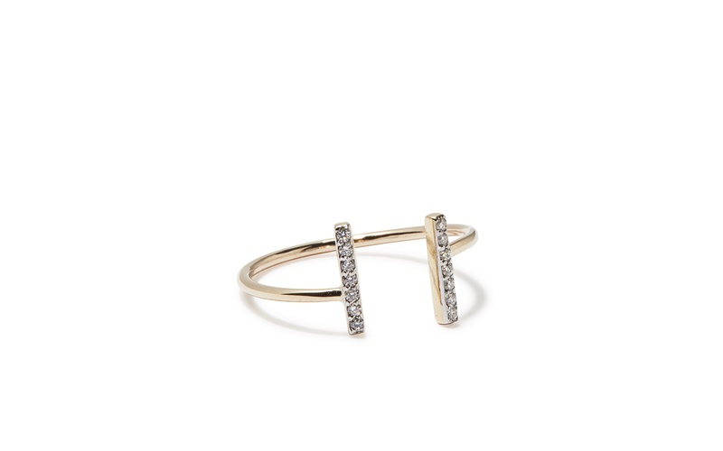 TINY SPARKLE DIFFERENT BUT EQUAL DIAMOND RING