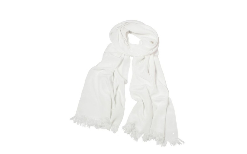 Silk Scarf -White