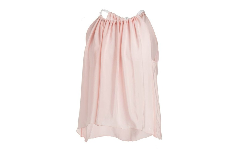 Silk sleeveless top - Blush