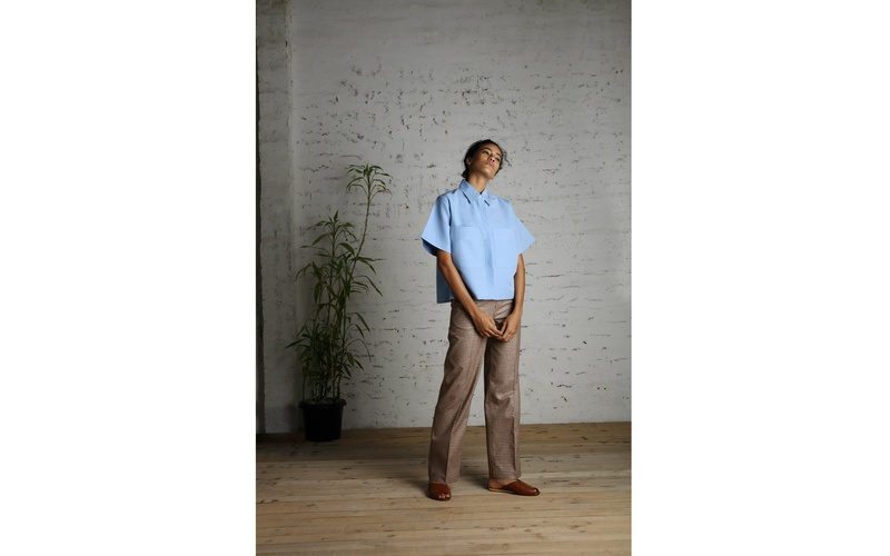 Linen Shirt and Woven Trousers