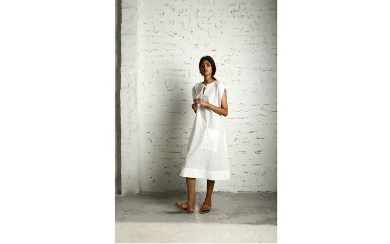 Muslin Parachute Tie Dress