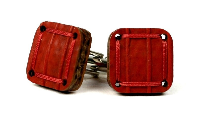 Red Reclaimed Cufflinks