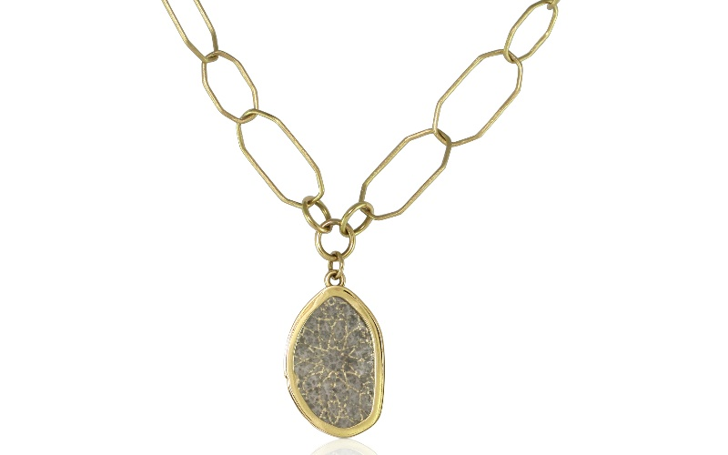 Diamond Slice Yellow Gold Necklace