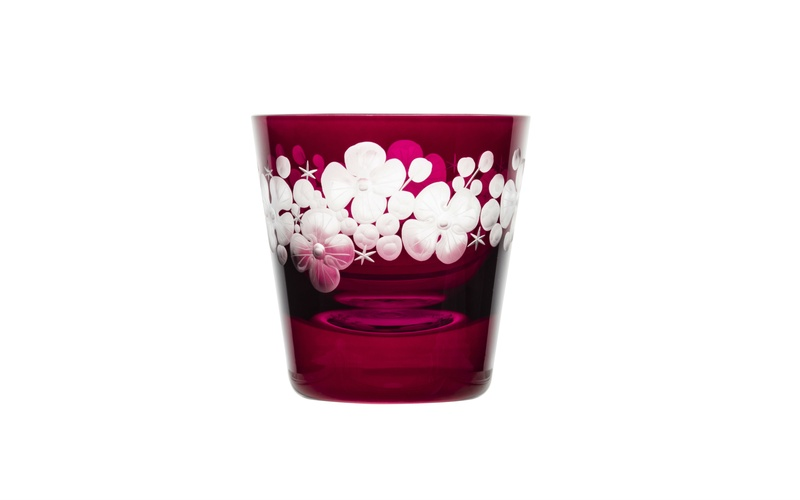 Tallulah Tipple Glass - Fuschia