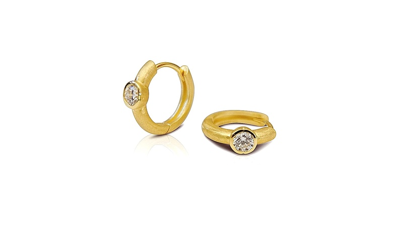 'Little Luca' 18 Carat Yellow Gold Diamond Earrings