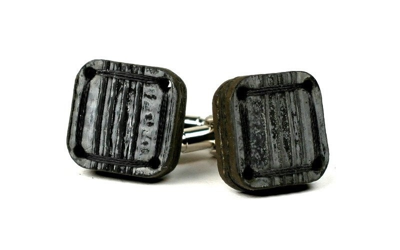 Black Reclaimed Cufflinks