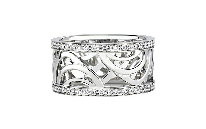 ARIA WHITE GOLD AND DIAMOND BAND