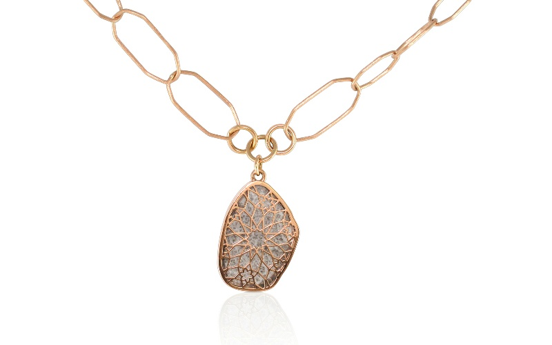 Diamond Slice Rose Gold Necklace