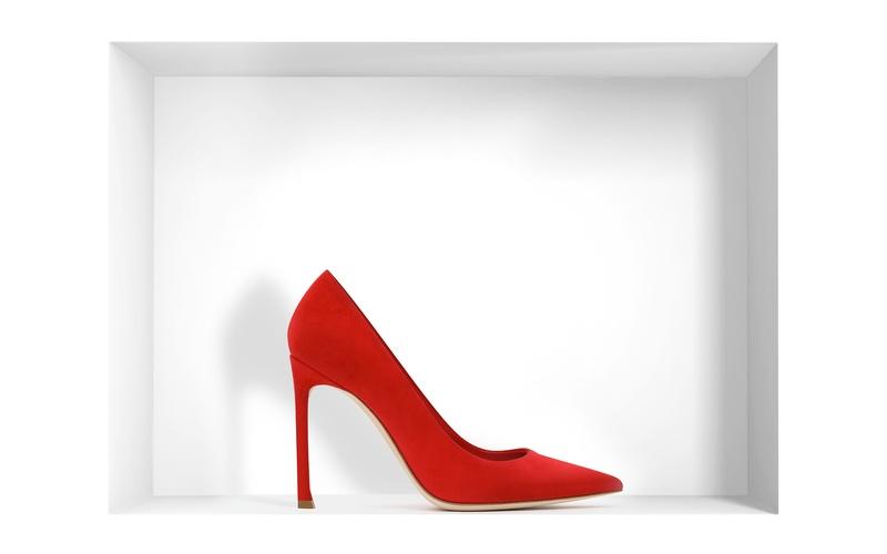 Pump 'Dior' Red Suede Calfskin Pump 10 cm