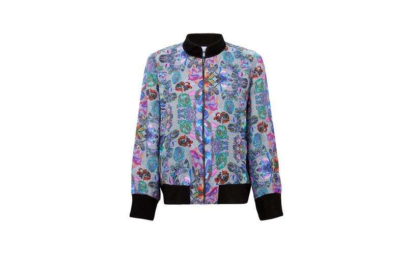Iris Print Bomber Jacket