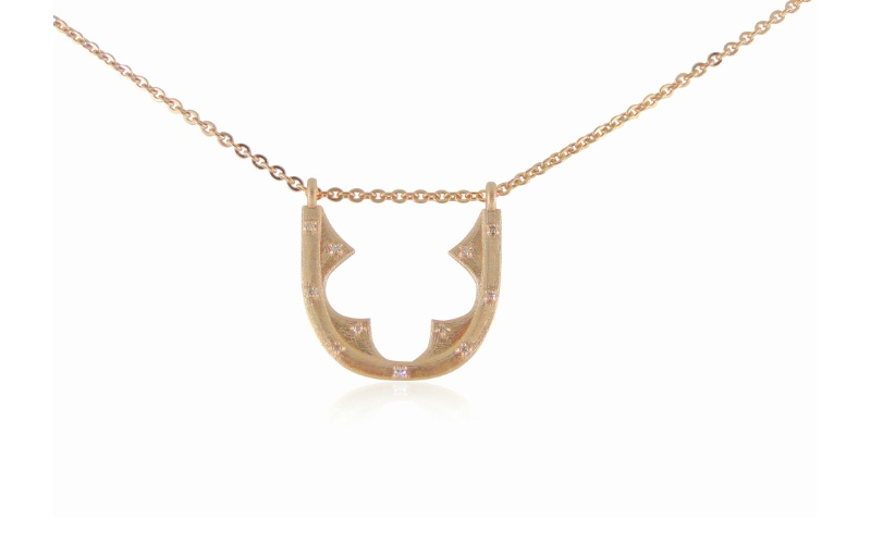 Diamond Rose Gold Necklace