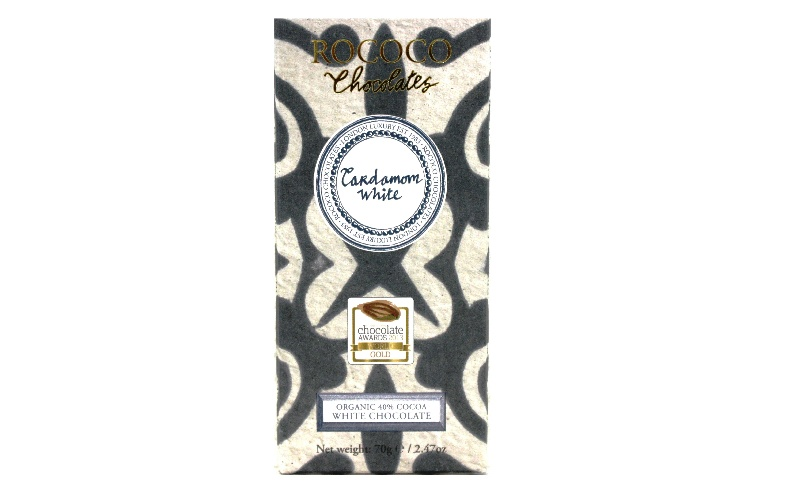 Organic Cardamom White Chocolate Artisan Bar