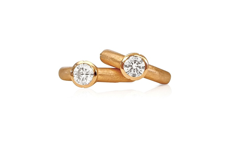 'Little Luca' 18 Carat Rose Gold & Diamond Earrings