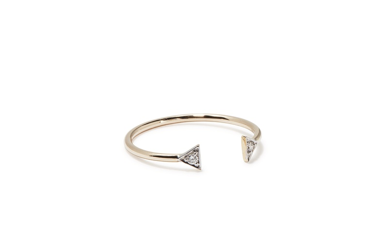 TINY SPARKLE DOUBLE OPEN PEAK RING WITH DIAMONDS