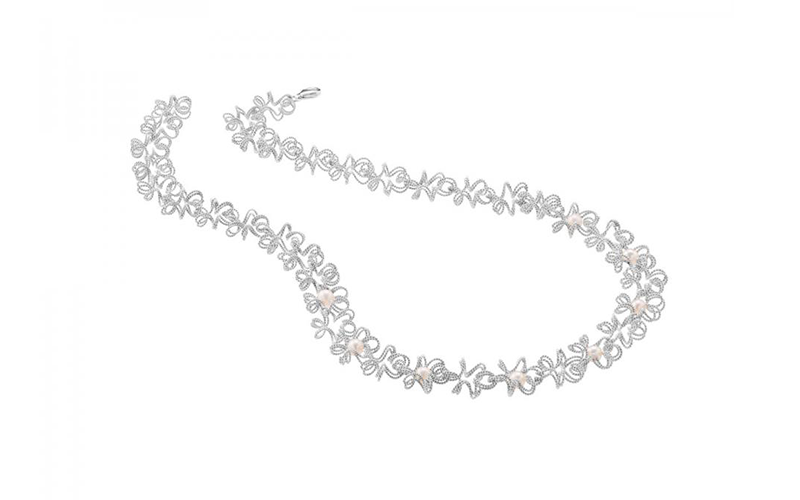 Silver Nuvola Perla Necklace