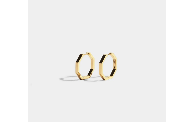 OCTOGONE EARRINGS - 18 CARAT FAIRMINED GOLD