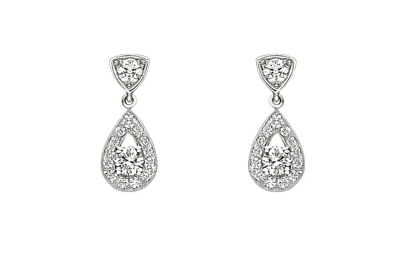 Joséphine 18ct white-gold diamond earrings