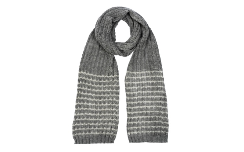ALPACA LACE SCARF GREY