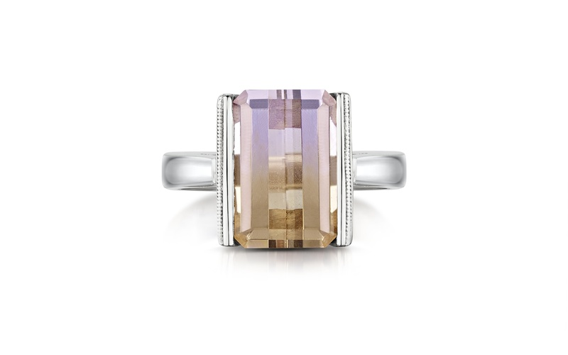 AMETRINE & WHITE GOLD RING