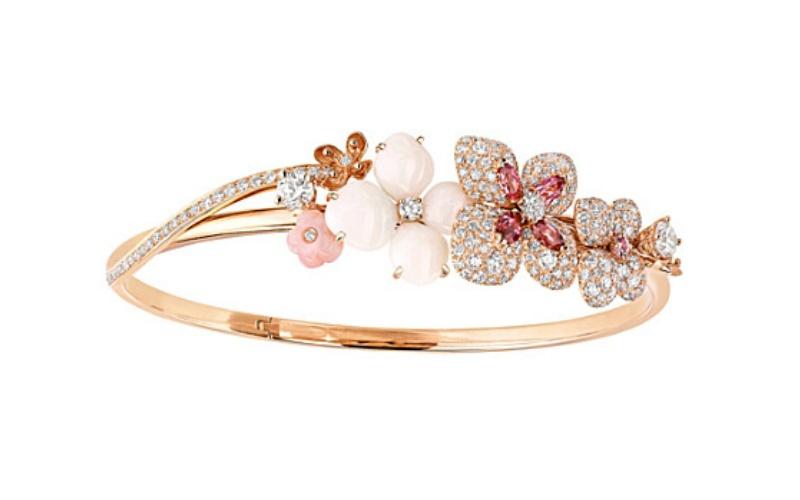 """Hortensia """"Aube Rosée"""" Bracelet"""