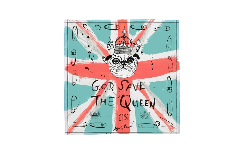 GOD SAVE THE QUEEN SILK SCARF
