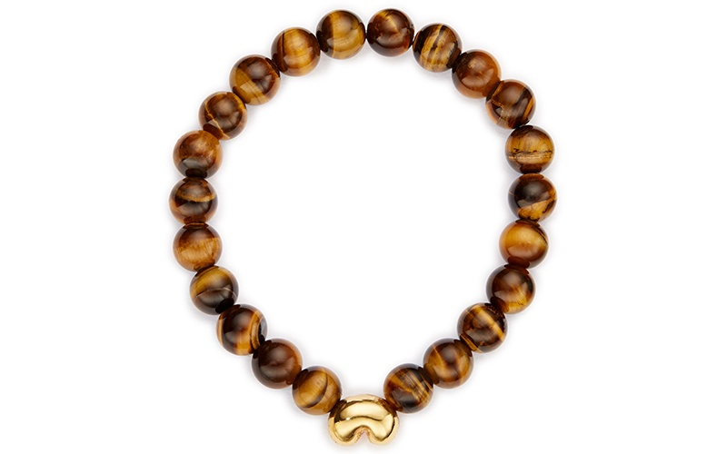 TARANGIRE STRETCH BAOBAB BRACELET WITH TIGER EYE