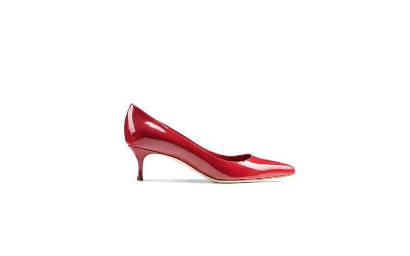 Godiva Kitten Heel Red
