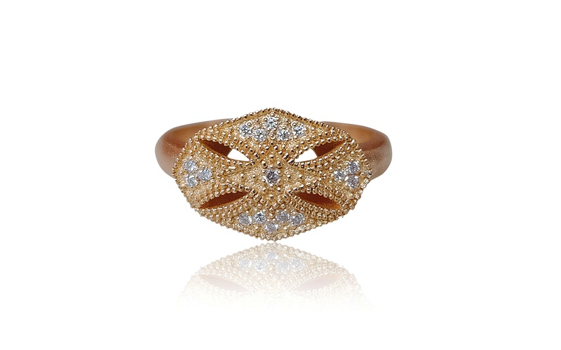 ROSE GOLD WHITE DIAMOND RING