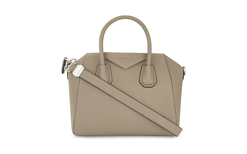 Antigona sugar leather tote greige