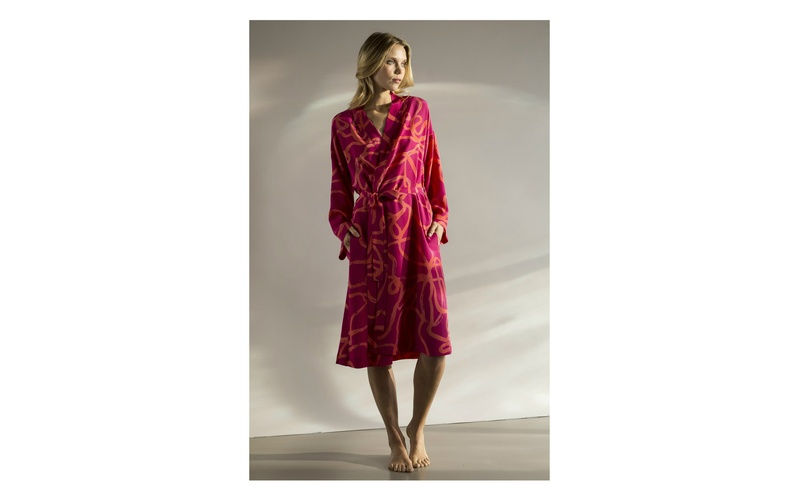 Firebird silk robe