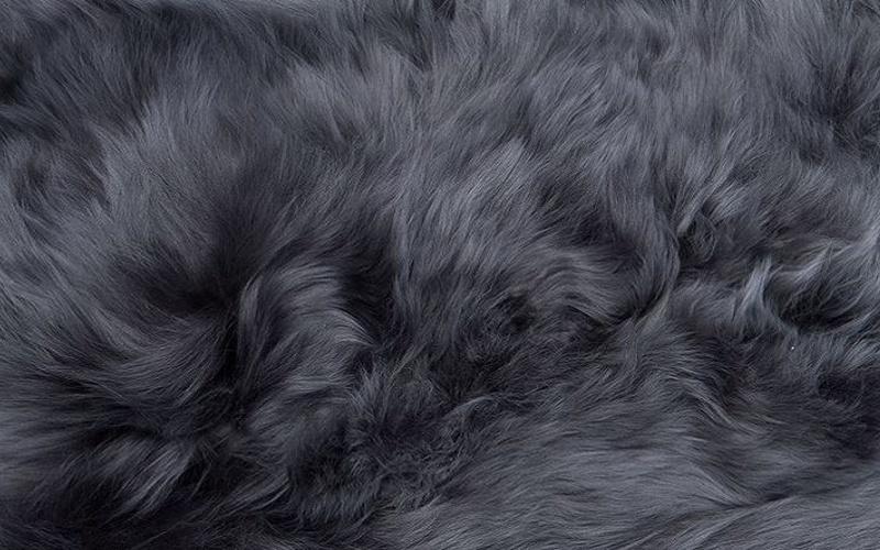 Suri Alpaca Rug - Dark Gray