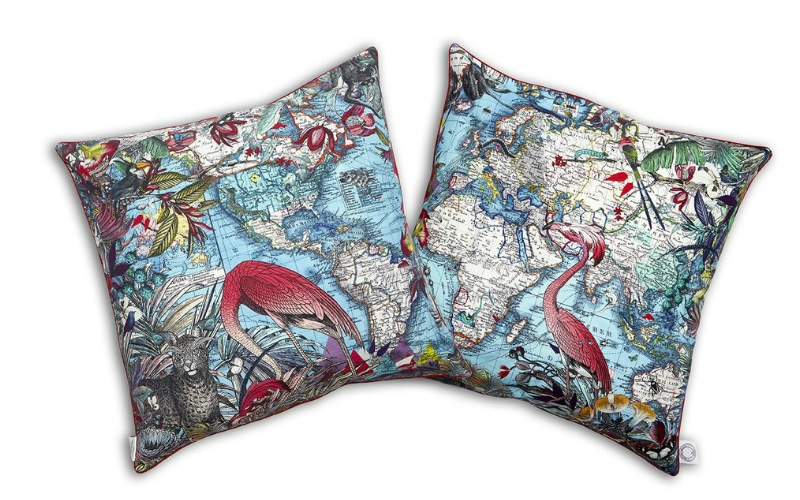 Wild Blue World Cushion cotton