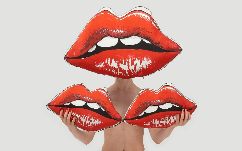 Lips Cushions - Small and Large