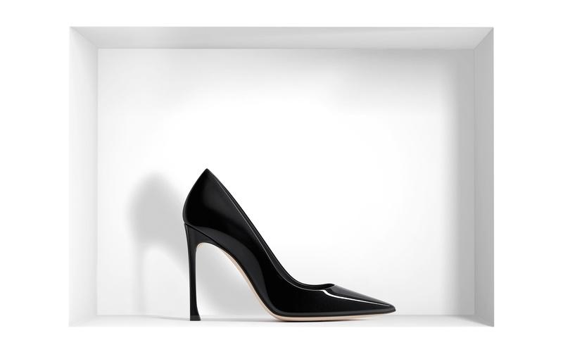 Pump 'Dior' Black Patent Calfskin Pump 10 cm