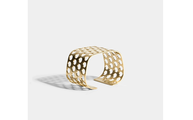 VOIDS CUFF BRACELET - JEM BY INDIA MAHDAVI - 18 CARAT FAIRMINED GOLD