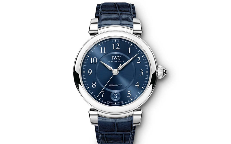 DA VINCI AUTOMATIC 36 STAINLESS STEEL WITH BLUE ALLIGATOR STRAP