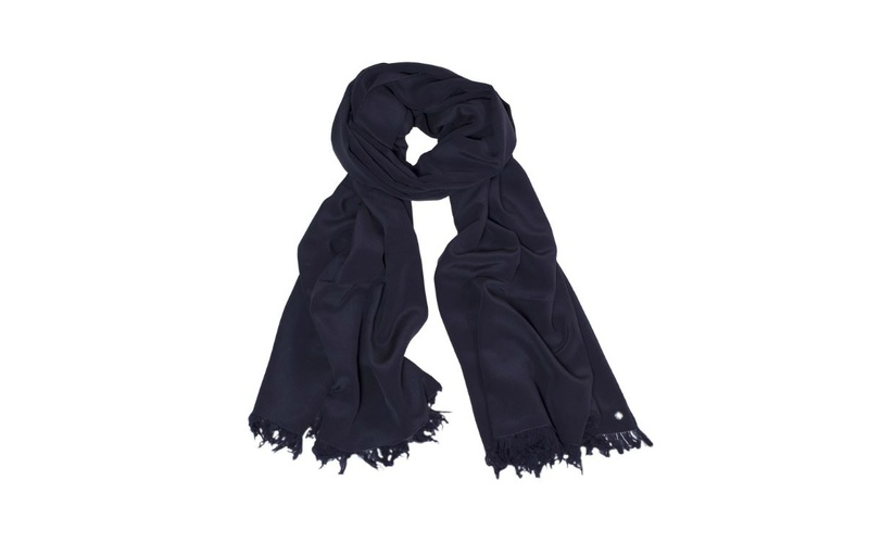 Silk Scarf - Navy