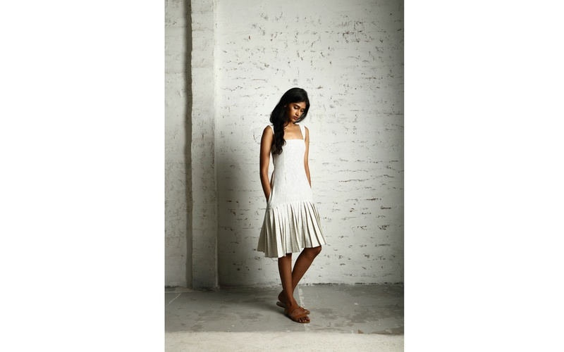 Rare Organic Cotton Pleated Dress
