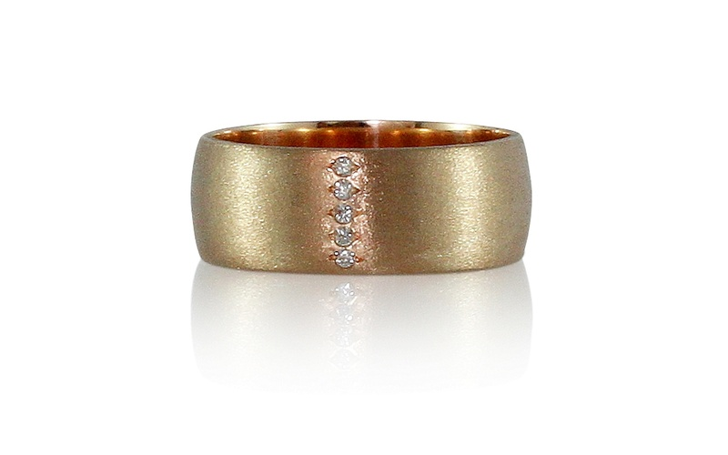 Men's Diamond Rose Gold Ring