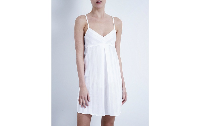 SHADOW STRIPE NIGHTDRESS