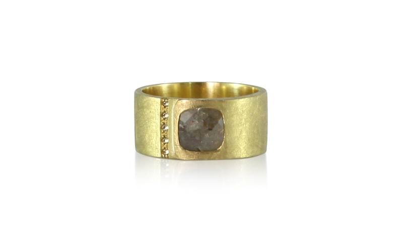 Men's Mixed Diamond Gold Ring