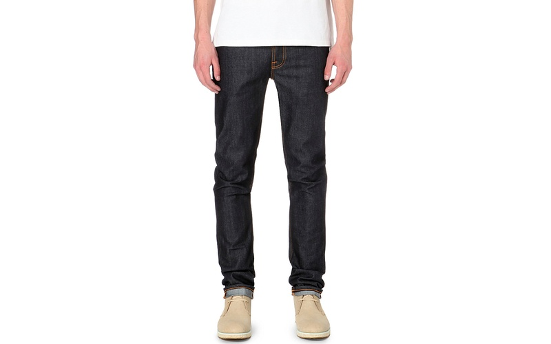 Grim Tim slim-fit straight organic jeans