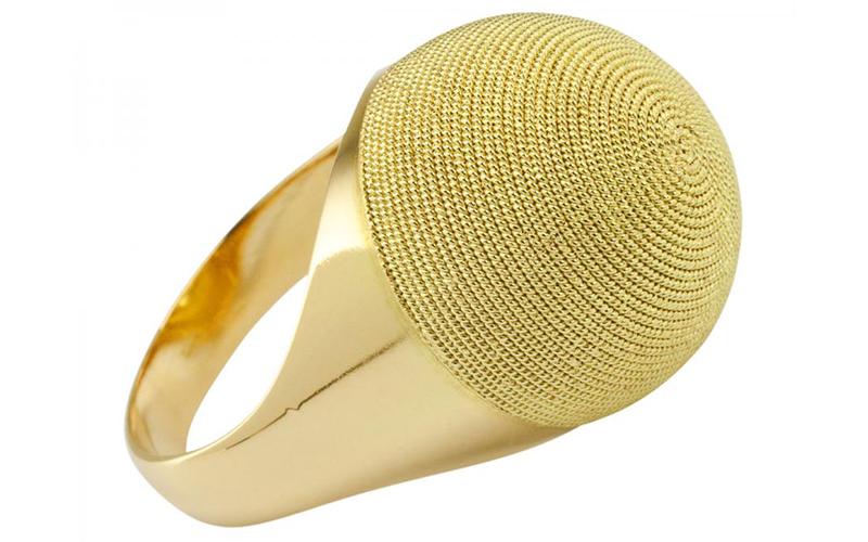 Gold Corbula Ring